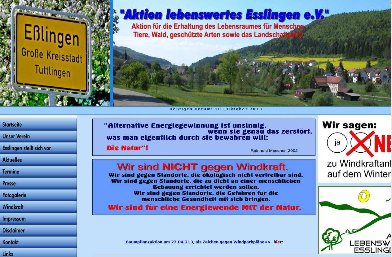 """Verein """"Aktion lebenswertes Esslingen"""""""