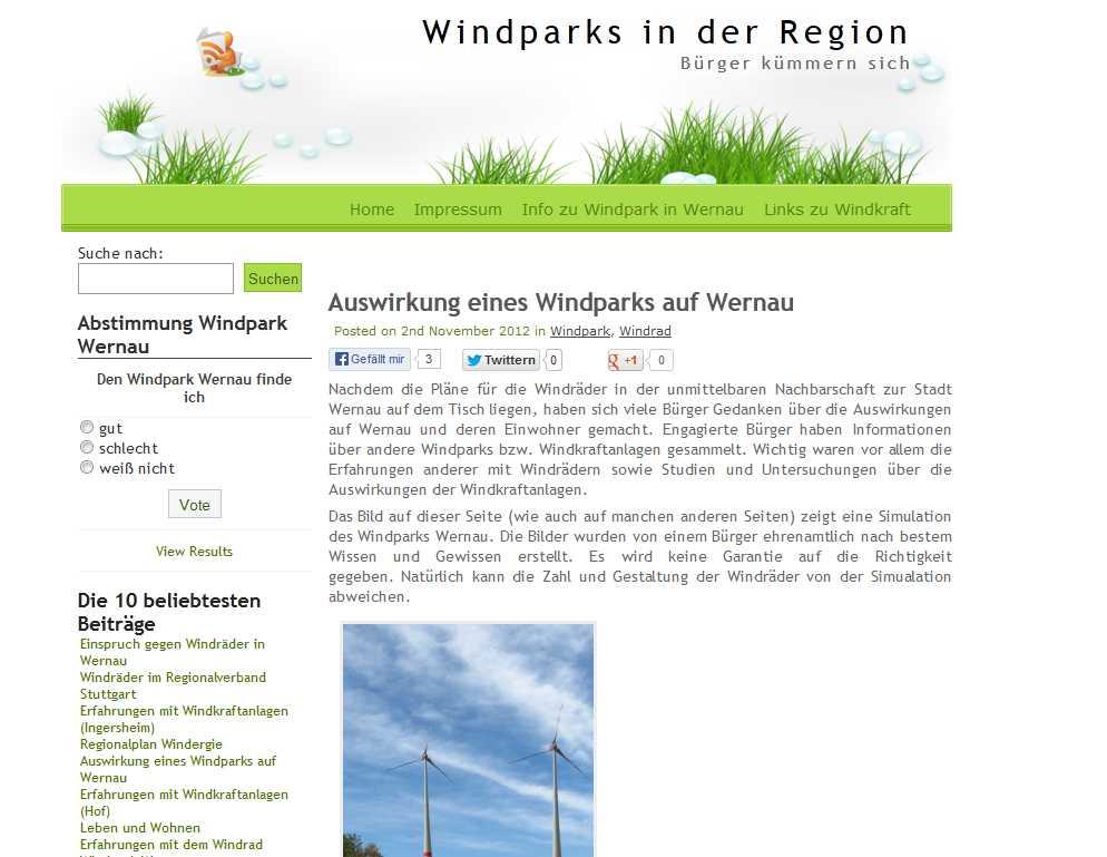 Leben mit dem Windrad (Wernau)