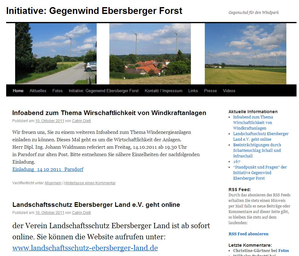 Initiative Gegenwind Ebersberger Forst