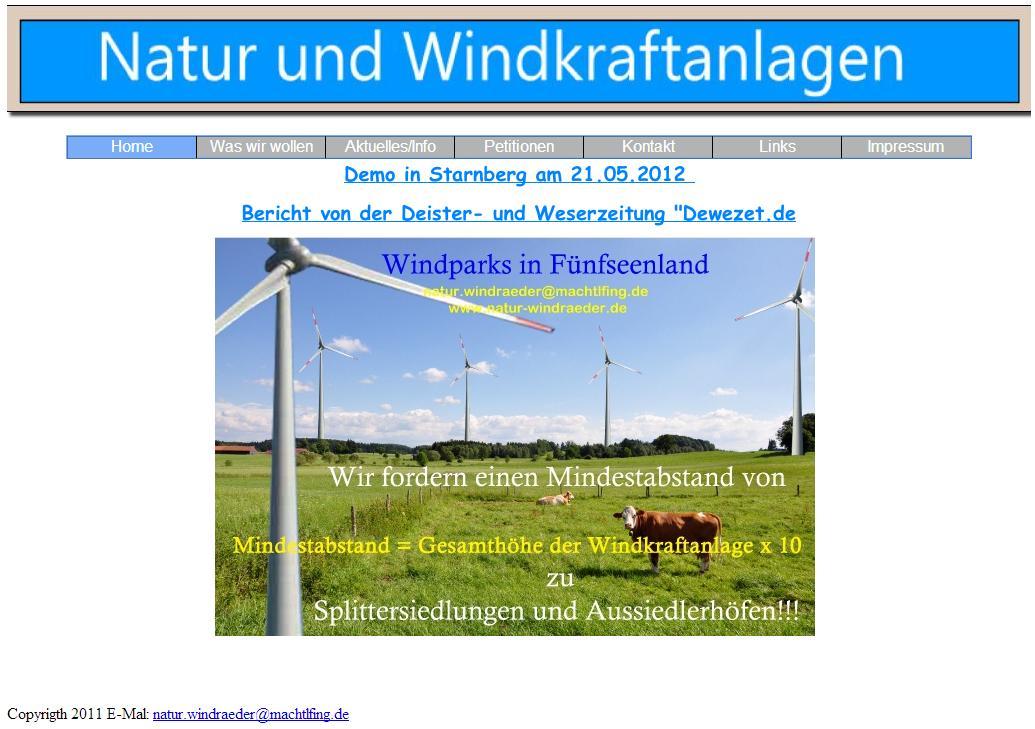 Natur und Windkraftanlagen
