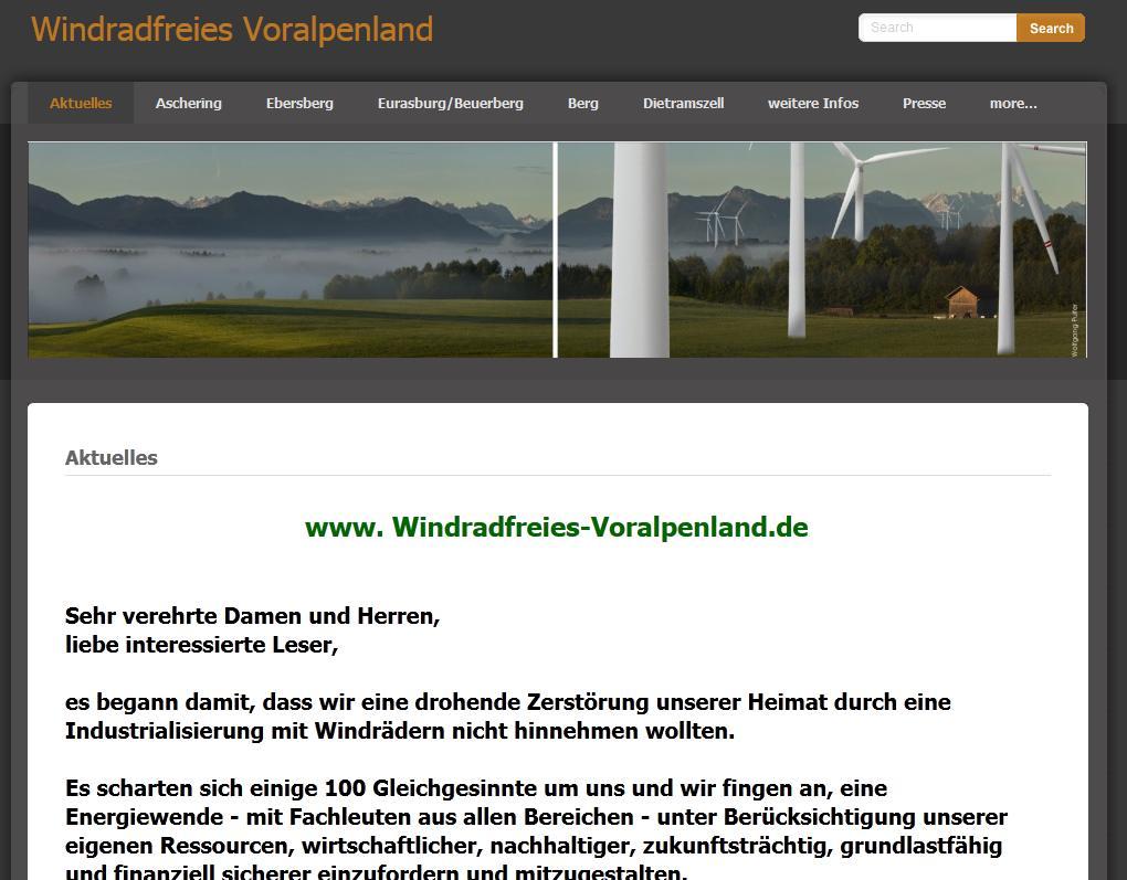 Windkraftfreies Voralpenland