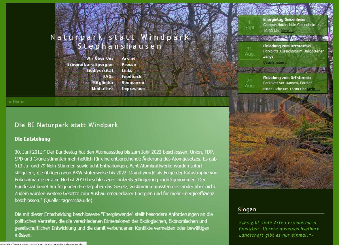 Naturpark statt Windpark Stephanshausen