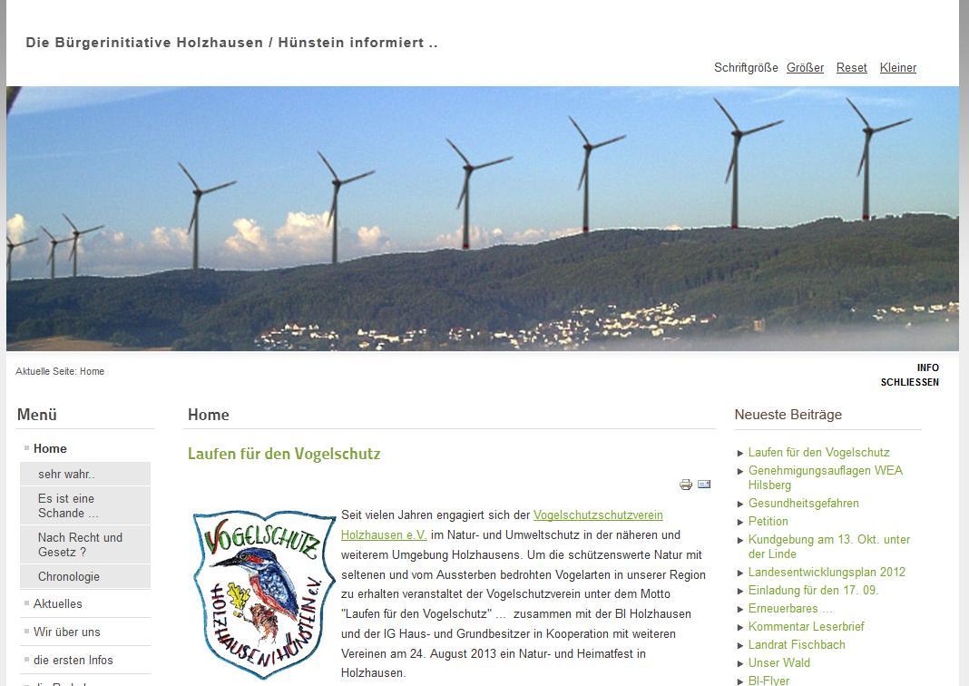 BI zur Förderung des Naturschutzes und der Heimatpflege Holzhausen