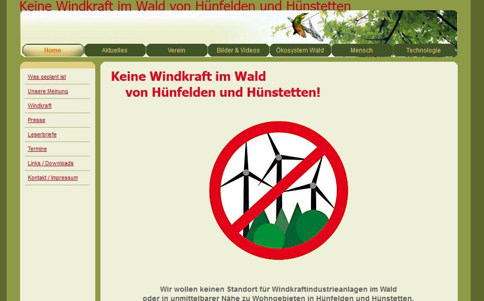 Keine Windkraft im Wald von Hünfelden und Hünstetten