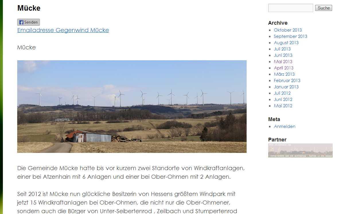 BI Gegenwind Vogelsberg Ortsgruppe Mücke