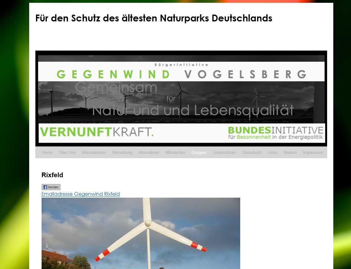 BI Gegenwind Vogelsberg Ortsgruppe Rixfeld