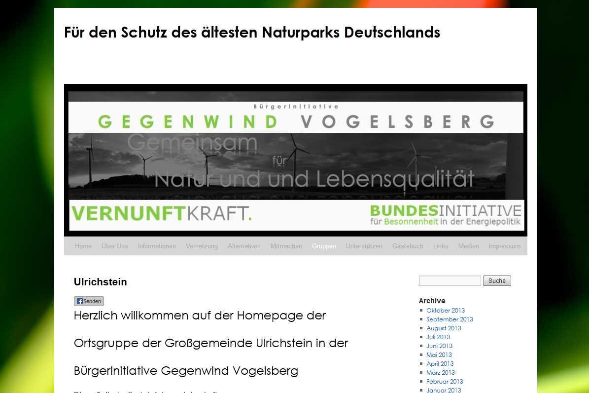 BI Gegenwind Vogelsberg Ortsgruppe Ulrichstein