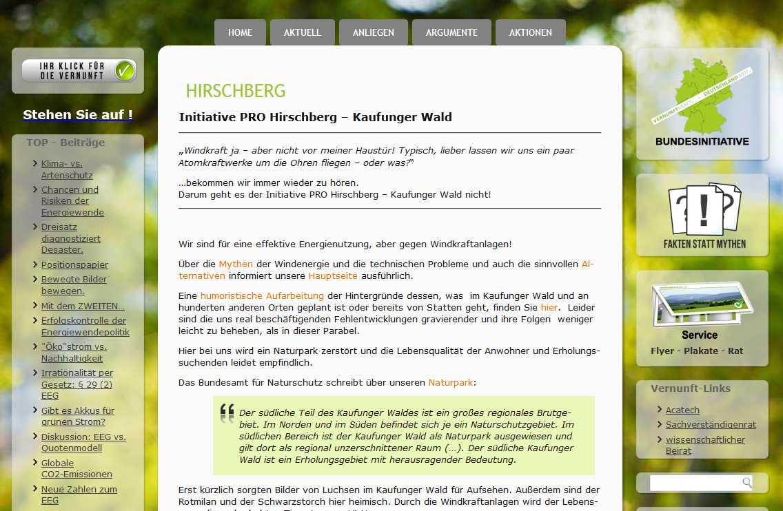 BI pro-Hirschberg Kaufunger Wald