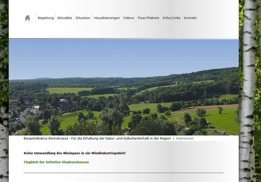 BI Gegenwind Rennstrasse Hasselbach Weilrod