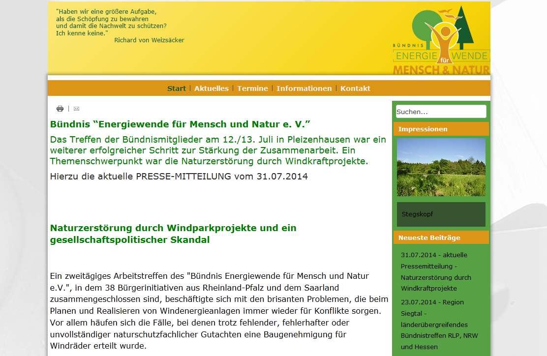 BI Bündnis Energiewende für Mensch und Natur