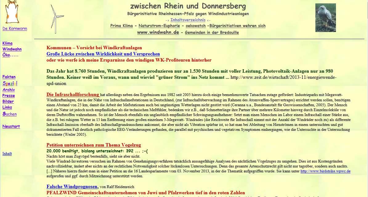 Rheinhessen-Pfalz gegen Windindustrieanlagen