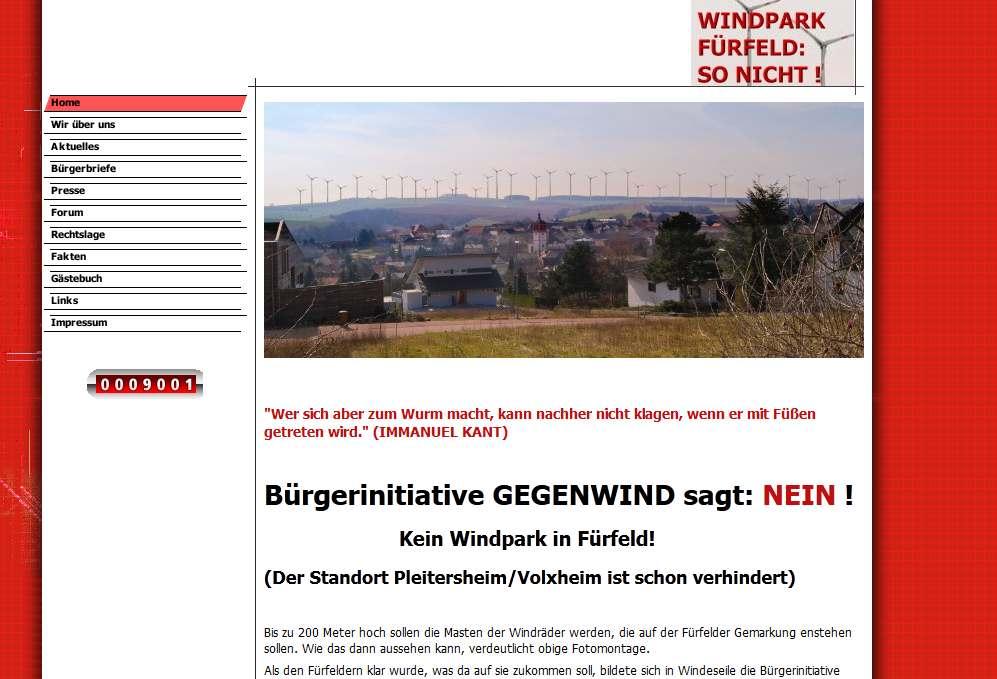 Gegenwind Windpark Fürfeld