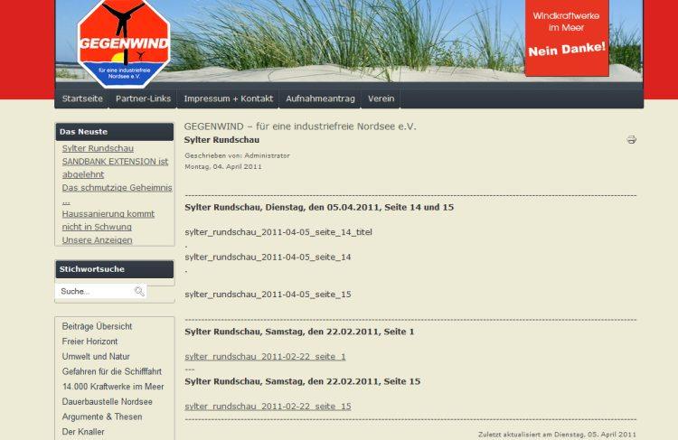 """Gegenwind-Sylt """"für eine industriefreie Nordsee e.V."""
