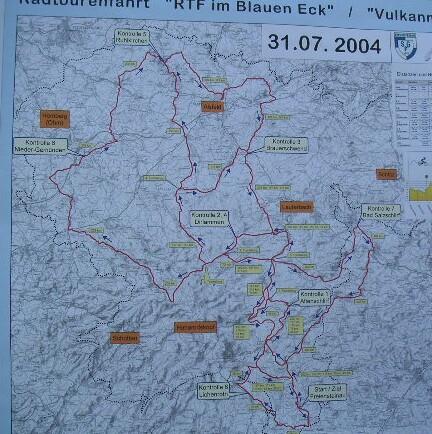 Streckenkarte am Veranstaltungstag