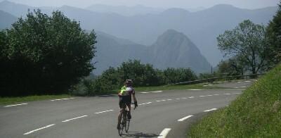 in der Abfahrt vom Col de Mente